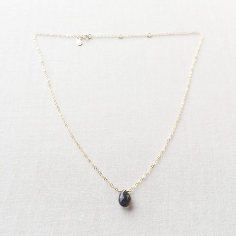 Our Smoky Quartz necklace is genuine gemstone in 14k gold filled chain