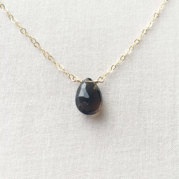 14k smoky quartz necklace is great for your everyday necklace