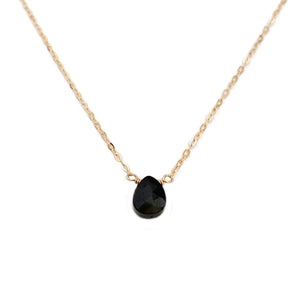 This black tourmaline necklace is made with a gemstone that is known the world over for its healing properties and protective energy.  It's adjustable 16 inches to 18 inches long.