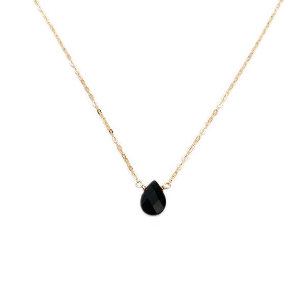 This dainty Obsidian necklace is adjustable for your everyday look.