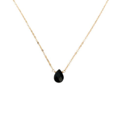 The cute obsidian necklace is handmade in our San Francisco studio with careful craftsmanship, and the chain is available in different materials.
