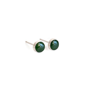 sterling silver 5mm jade stud earrings are simple and great for everyday outfit