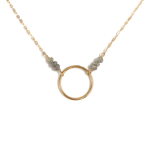 this dainty raw diamond necklace is Diamond April birthstone necklace.