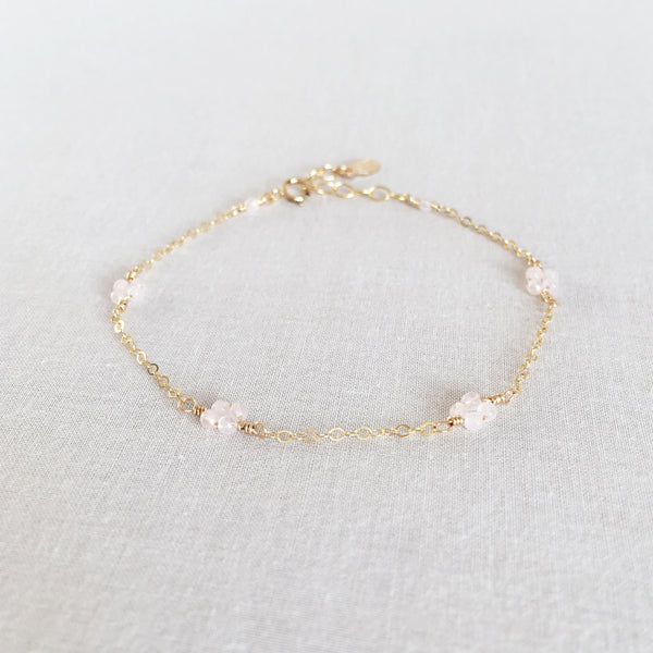 Mia Rose Quartz Bracelet