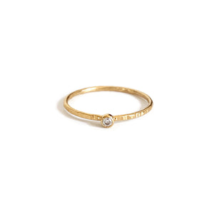 This dainty gold filled ring is great to stack with other rings.