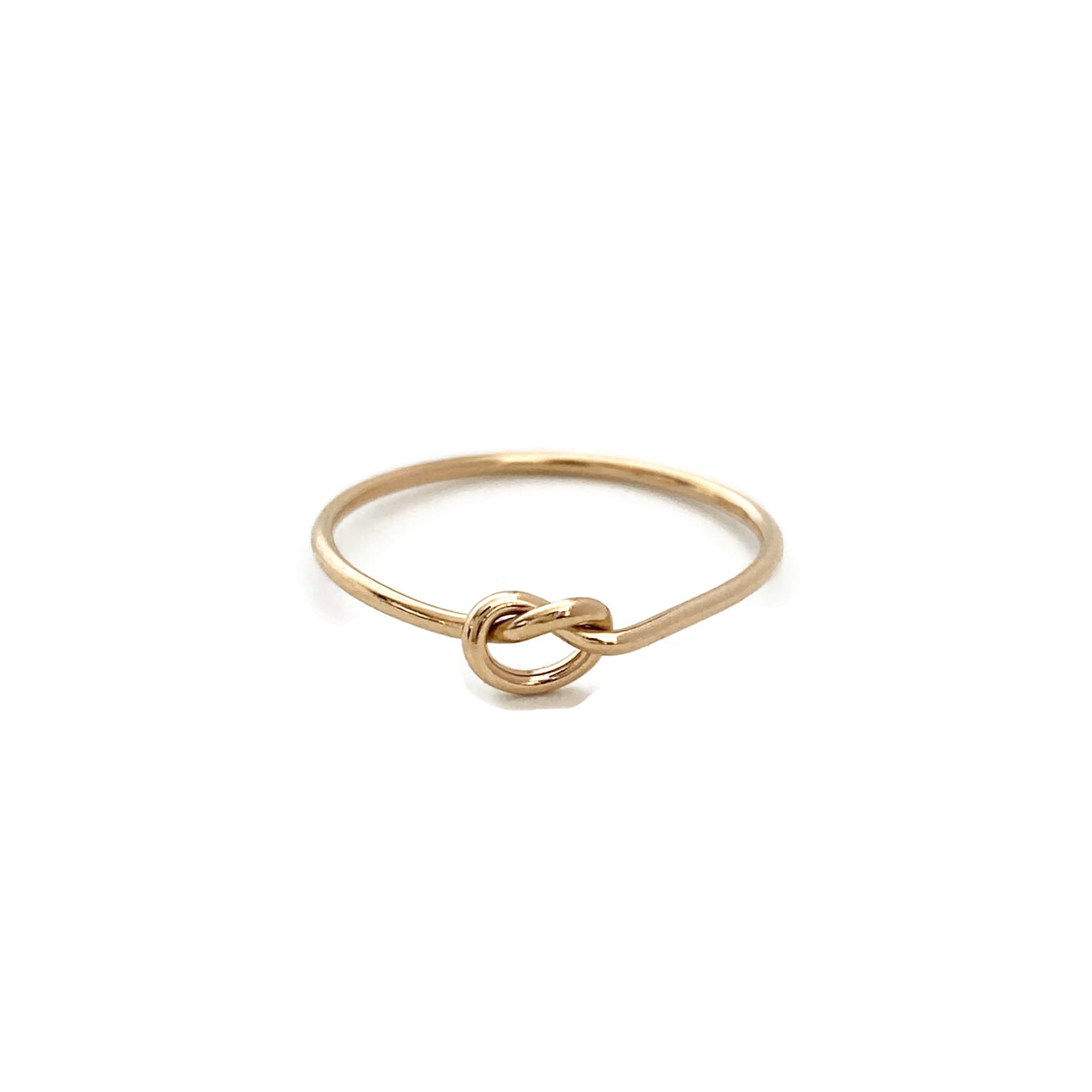 This dainty love knot ring is a cute ring that you can wear it for everyday.