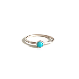 Dainty Turquoise ring is made of Kingman Turquoise and sterling silver wire.