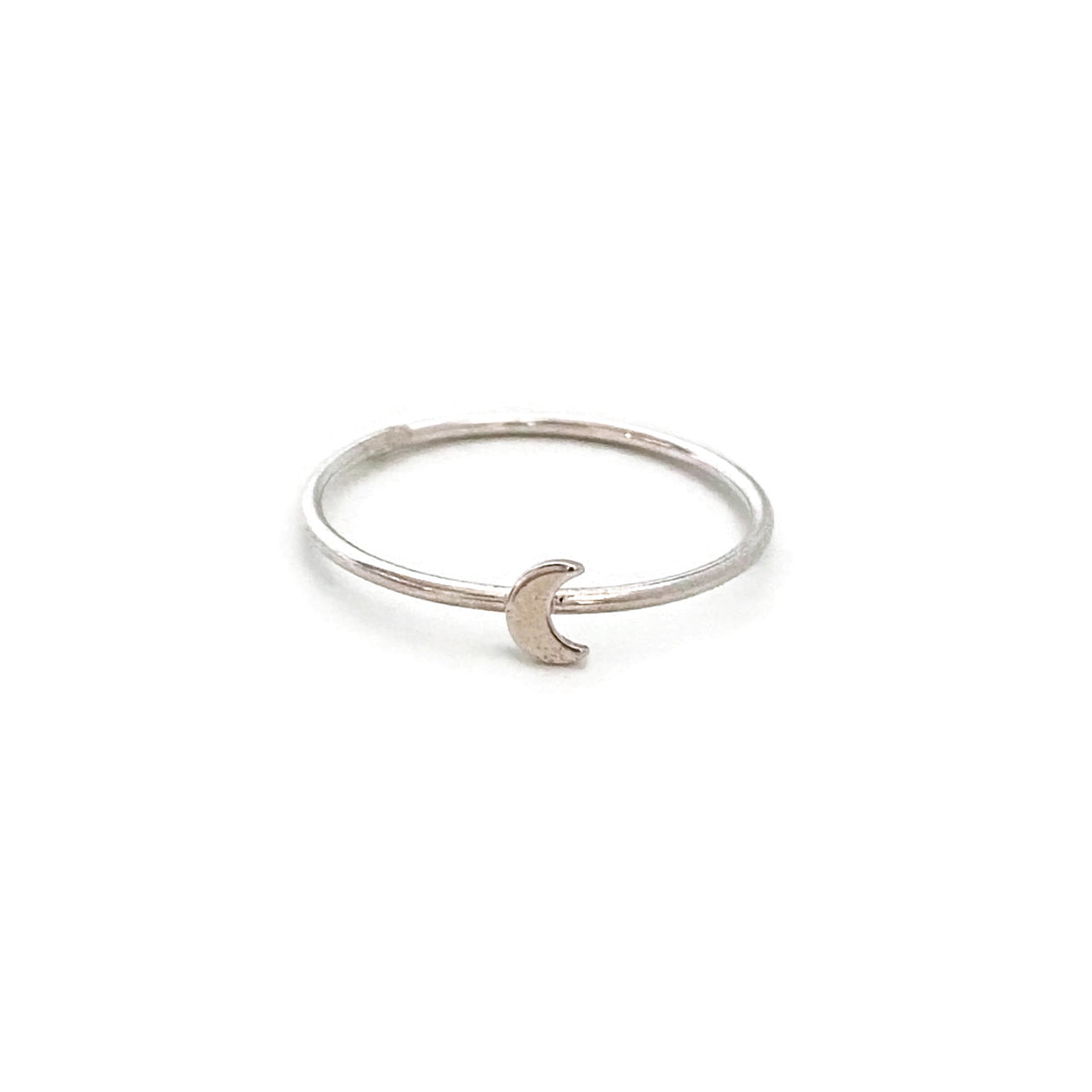 Sterling Silver Moon Ring
