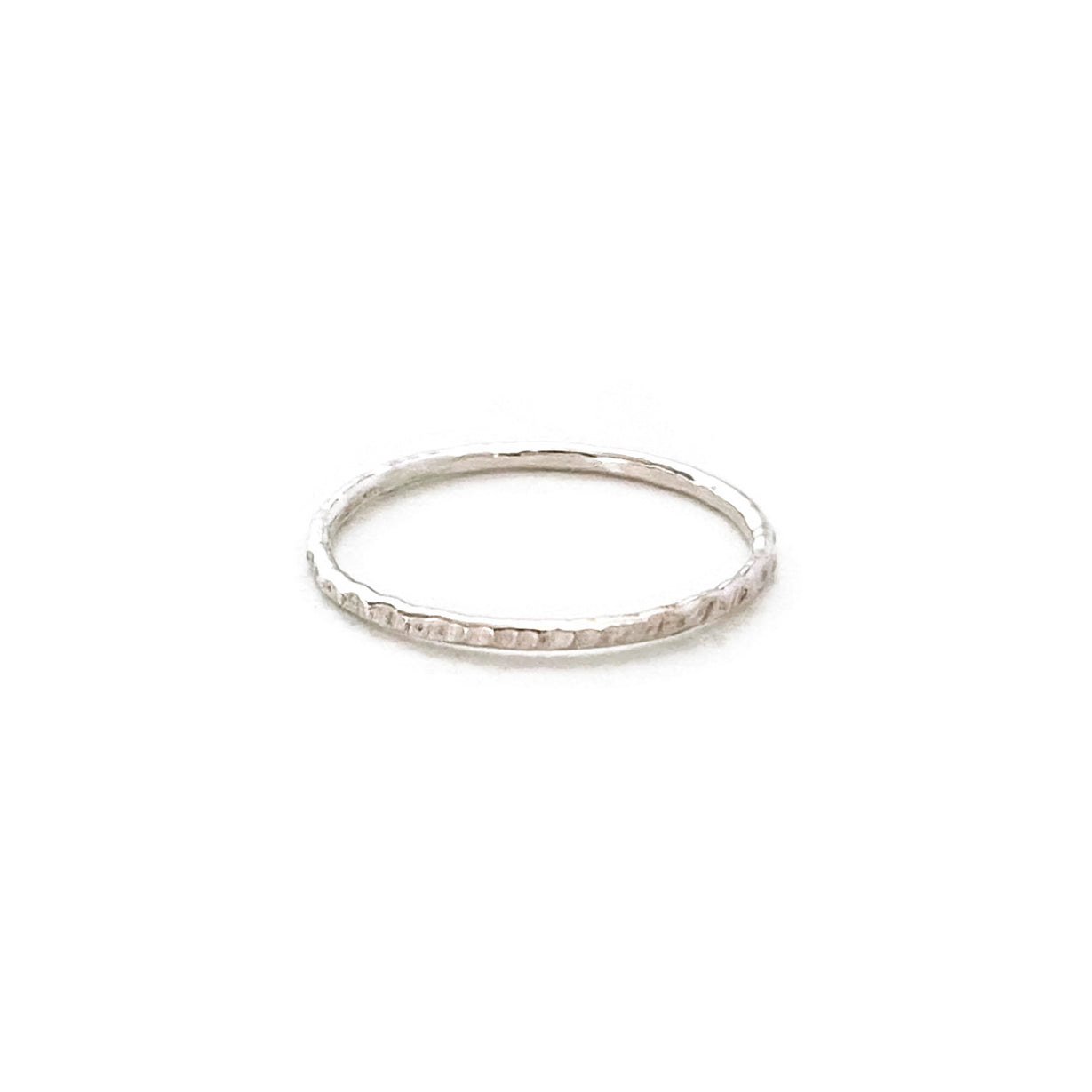 sterling silver hammered ring is handmade in our Jewelry studio in San Francisco