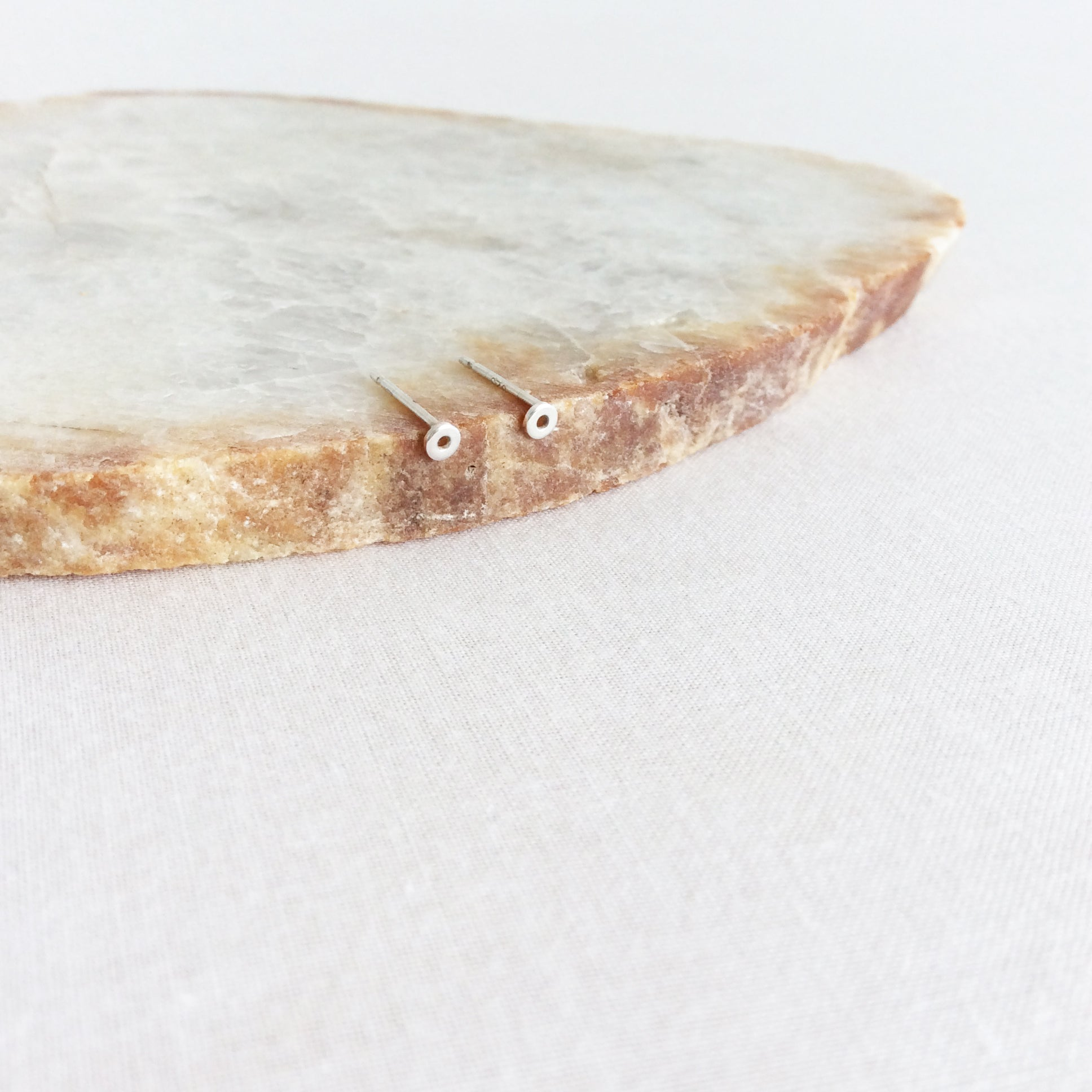 Small Circle Stud Earrings