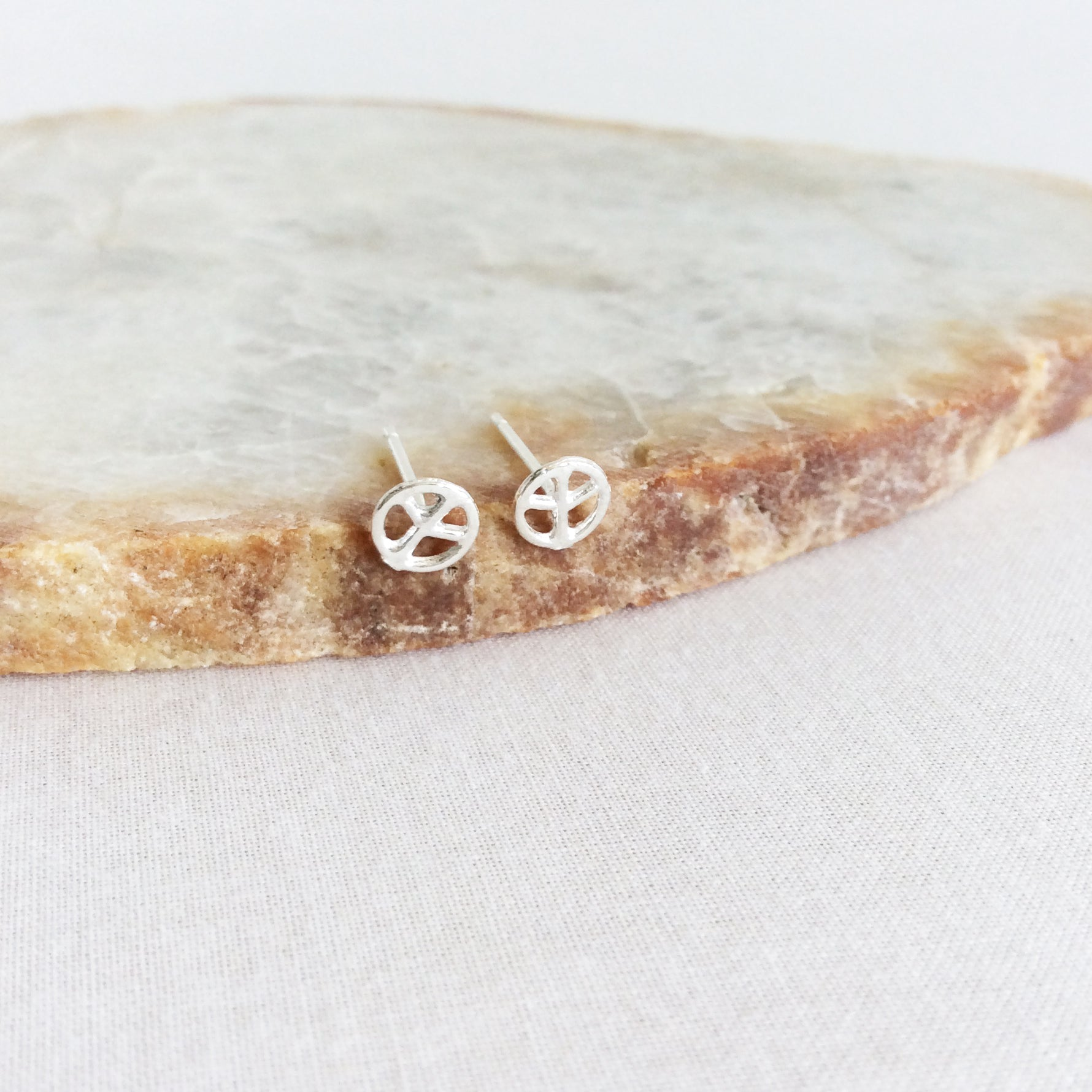 Peace Stud Earrings