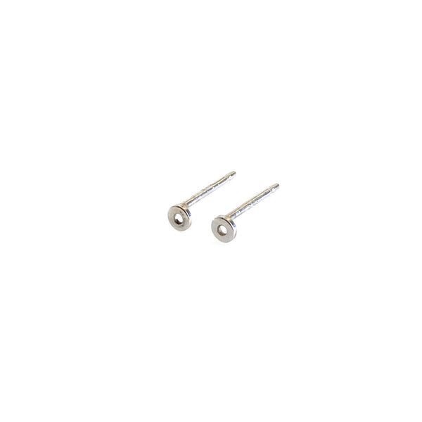 Sterling Silver Tiny Circle Stud Earrings