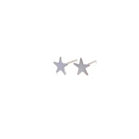 sterling silver star stud earrings are great for everyday wear