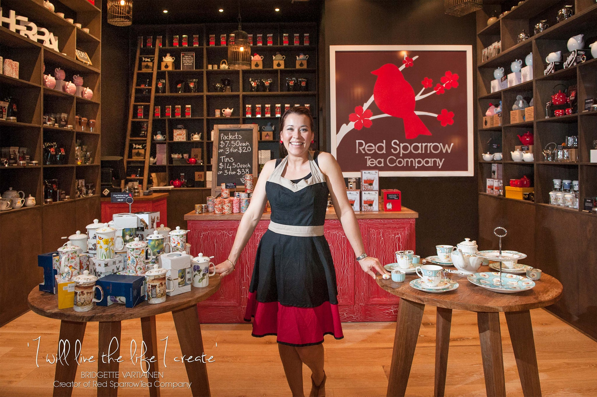 our story red sparrow tea company