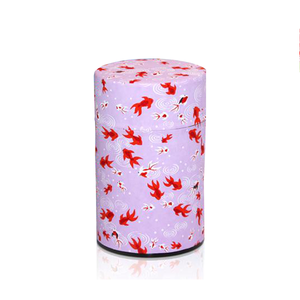 Japanese Tea Canister - Goldfish Purple - 150g