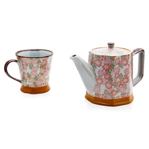 Japanese Teapot - Pink Blossoms - Red Sparrow Tea Company