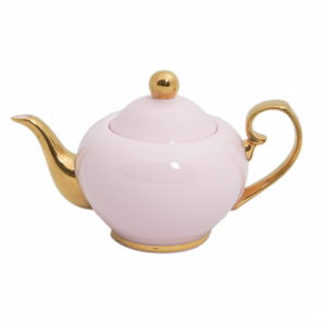 Teapot Blush & Gold Small - Red Sparrow Tea Company