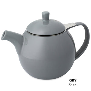 Forlife - 'Curve' Teapot 710ml –  Grey