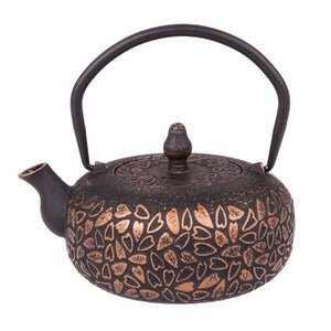 Cast Iron Teapot - Bronze Hearts