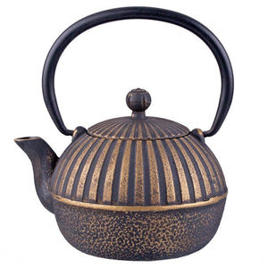 Cast Iron Teapot - Imperial Stripe - 500ml - Red Sparrow Tea Company
