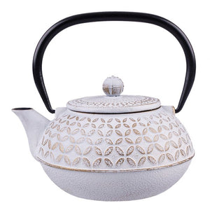Cast Iron Teapot - Gold Leaf - 900ml - Red Sparrow Tea Company
