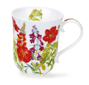 Dunoon - Mug - Cottage Flowers - Red