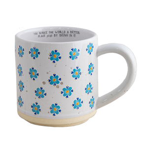 Natural Life - Blue Flower Bungalow Mug