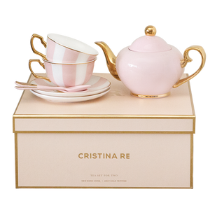 Cristina Re - Two Cup Blush Stripe Teaset