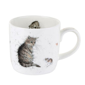 Royal Worcester - Wrendale - 'Cat and Mouse' mug