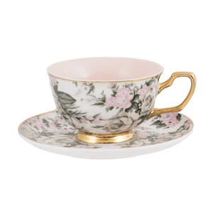 Teacup and Saucer - Belle De Fluer - Red Sparrow Tea Company