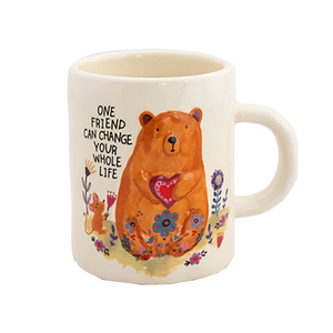 Natural Life - Embossed Mug - Bear
