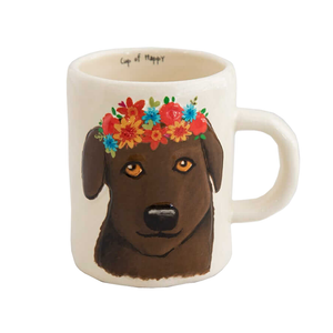 Natural Life - Embossed Mug - Chocolate Lab