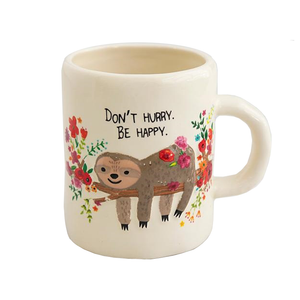 Natural Life - Embossed Mug - Sloth