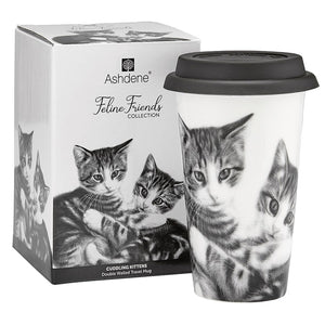 Ashdene - Feline Friends - Cuddling Kittens - Travel Mug