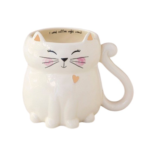 Folk Mug - Cat - I Need Coffee Right Meow