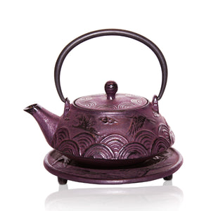 Cast Iron Teapot - Flying Crane - Red Sparrow Tea Company