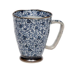 Japanese - Kusa Large Mug - Blue - Red Sparrow Tea Company