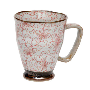 Japanese - Magnolia Large Mug - Red - Red Sparrow Tea Company