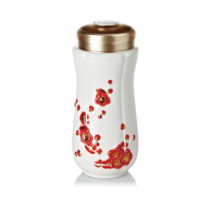 Liven Tourmaline Tumbler - Spring Plum - Red Flowers