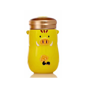 Liven Tourmaline Tumbler - Good Fortune Piggy - Yellow - Red Sparrow Tea Company
