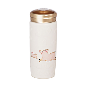 Liven Tourmaline Tumbler - Two Lucky Pigs - Red Sparrow Tea Company
