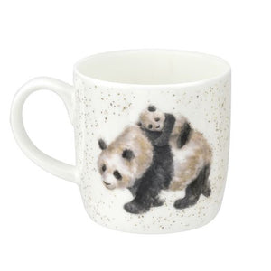 Royal Worcester - Wrendale - Panda 'Bamboozled' mug