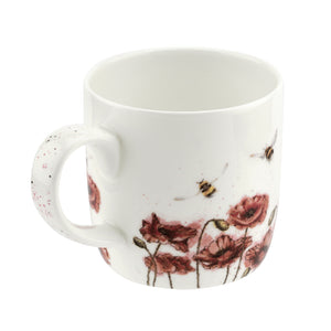Royal Worcester - Wrendale - 'Let It Bee' Poppies & Bee Mug