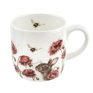 Royal Worcester - Wrendale - 'Let It Bee' Poppies & Bees Mug
