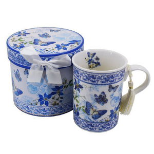 Boxed - Blue Butterfly Mug