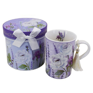 Boxed - Purple Flowers Mug