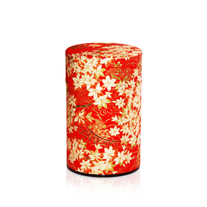 Japanese Tea Canister - Maple Red - 150g