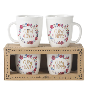 Natural Life - Cup Of Happy/Love Set