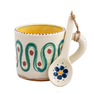 Natural Life - Hazel Mug & Spoon Set - Swirl