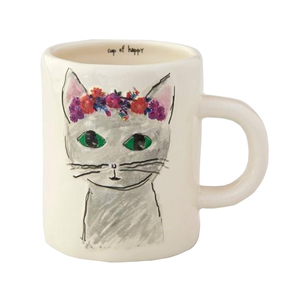 Natural Life - Happy Prairie Mug - Grey Cat